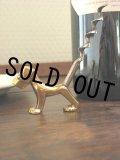 美品 1933年 英国ピアソンページ製 アールデコ 何とも可愛い 真鍮製の犬型コルクスクリュー