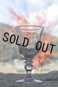 1900年代初期 フランス製 アンティーク 吹きガラスのワイングラス 気泡入り 口径6.5cm 全高12cm