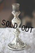美品 1800年代後期 フランス製 アンティーク マーキュリーグラス キャンドルスタンド 高18.5cm お勧めの逸品!