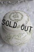 お買い得 希少 ROGER&GALLET (ロジェガレ)クリームサボン アンティークポット Sarreguemines窯 1900年代初期 フランス PARIS