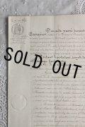 1800年代 フランスの古文書 アンティーク・マニュスクリ 枯れたインク 美しい手書き文字 見開き 1枚 3ページ