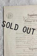 ★トップにナポレオンの文字★ 1800年代 フランスの古文書 アンティーク・マニュスクリ 枯れたインク 美しい手書き文字 見開き 1枚 4ページ
