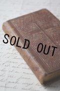 1859年 フランス製 アンティーク聖書 枯れ具合が素敵な表装 12.6 × 8.4× 2.0cm 316ページ