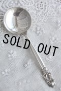デンマーク王室御用達の名品 ジョージ・ジェンセンの代表 エコーン 純銀製 スープスプーン 16.2cm 44g お買い得価格にて!
