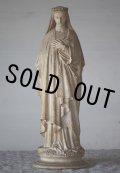 希少 1800年代後期〜1900年代初期 フランス製 アンティーク 聖母マリア像 優しいオーラに癒されて 全高 33cm 989g