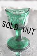 ★可愛い形の アンティーク アイウォッシュグラス グリーン(1900年代初期・イギリス製)
