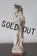 お買い得 1900年代初期 フランス製 アンティーク 小さな聖母マリア 石膏像 NOTRE DAME 勝利の聖母 21.3cm