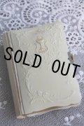 美品 1920年 フランス製 アンティーク聖書 ミサ聖典 アイボリーセルカバー アール・ヌーヴォー 聖杯&小花の象嵌 全534ページ