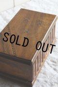 希少 アンティーク 大型モシュリンヌ オリーブのからくり組木 ジュエリーボックス 可愛いツバメ 幅22.3 cm