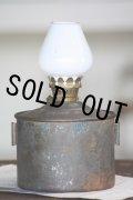 希少なジャンボタンク 1930年代 イギリス製 アンティーク KELLY 絶妙の枯れ具合のオイルランプ ミルクガラス