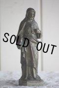 美品 1900年代中期 フランス製 ヴィンテージ 小振りなイエス・キリスト像 「イエスの御心」 金属製 高15.1cm 322g
