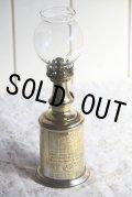 1800年台後期 フランス製 PARIS ピジョン アンティーク Pigeonオイルランプ 真鍮タンク 点灯テスト済 希少な実用品 高24cm