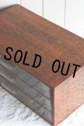 希少 手芸用品店(メルスリー)販促用非売品 フランス製 DMC 木製 3段 ソーイングキャビネット 44.0×25.0×H18.0cm