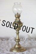 希少な初期型 1800年代後期 フランス製 PARIS ピジョン アンティーク オイルランプ 真鍮製 点灯テスト済 高 30.5cm