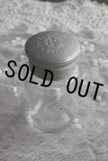 お買い得 ライン有 1900年代初期 フレンチアンティーク ロジェガレ ROGER&GALLET アルミ蓋付ボトル ウランガラス 高8.0cm