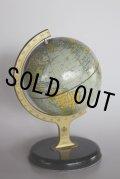 1950年代 英国CHAD VALLEY社 ティン製 地球儀(小型) フランス輸出品の為、地名はフランス語 全高 21cm 凹みありの為、お買い得