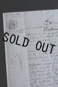 1800年代 フランスの古文書 アンティーク・マニュスクリ 枯れたインク 美しい手書き文字 見開き1枚 3ページ