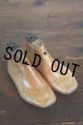 お買い得 硬質の古い木の雰囲気が素敵です! 幼児用 ライトブラウン木型靴セット 14.5cm USAビンテージ