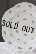 美品 シェリー ローズバット ディナープレート 大皿 27.4cm 散りばめた可憐な薔薇 1940〜1966年 英国製