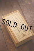 1900年代初期 フランス製 枯れたラベルの小さな木箱 チョークの入ってたポスタルボックス スライド蓋付 13.1×7.6cm