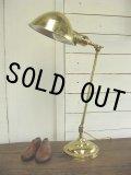 美品 H & H Lamp  Company デスクランプ 輝く真鍮製! 1930年代・アメリカ製