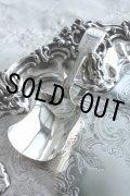 極美品 1812年 ジョージアン アンティークシルバー 純銀製 キャディースプーン 肉厚シャベル型 エングレービング