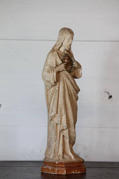 画像5: 1900年代中期 フランス製 ヴィンテージ イエス・キリスト像...   1900年代