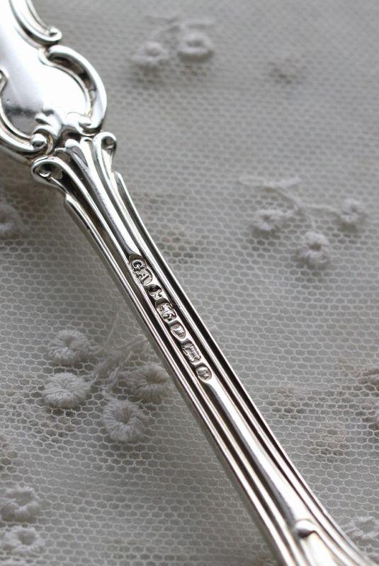 画像5: 希少 優美アルバートパターン アンティークシルバー 純銀製スプーン ヴィクトリアン銀器の代表 ジョージアダムス工房 1856年 ロンドン製 18cm