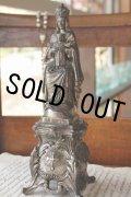 フランス製 1900年代初期 アンティーク 聖母マリア像 NOTRE DAME 優しいオーラ 金属製 高 23.5cm 637g