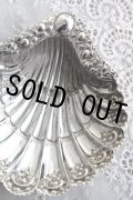 豪華美品 1897年 英国シェフィールド製 アンティークシルバー 純銀製 シェル型 ディッシュトレイ 全面に見事な飾り象嵌