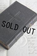 1879年 フランス製 アンティーク聖書 皮表装 12.3 × 8.3 × 2.4cm 416ページ