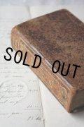 1906年 フランス製 枯れ具合が素敵な表装 アンティーク聖書  14.6 × 9.2 × 3.8cm 660ページ