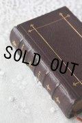 美品 1891年 フランス製 アンティーク聖書  皮表装 10.5 × 7.1 × 2.8cm 612ページ