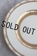 再入荷 豪華美品 アンティーク ミントン & ティファニー 金彩盛装飾 アイボリー プレート 22.7cm