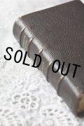 お買い得 1800年代後期 フランス製 アンティーク聖書  皮表装 11.7 × 8.0 × 3.0cm 1152ページ