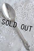 デンマーク王室御用達の名品 ジョージ・ジェンセンの代表 エコーン 純銀製 スプーン 大 17.4cm 43g お買い得価格にて!