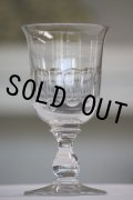 美品 1900年代初期 フランス製 アンティーク 大振りなワイングラス 気泡入り 美しいチューリップ型 口径8.0cm 全高15.2cm