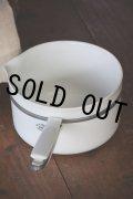 1930年代 フランス製 リモージュ LIMOGES ALUMINITE 純白磁の美しい片手鍋 サイズ5 直径20cm 全長33.5cm