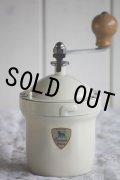 大変希少な未使用 極美品 1950〜1952年 フランス製 アンティーク プジョー コーヒーミル PEUGEOT GI アイボリー