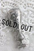 優美なヤドリギの象嵌 1900年代初期 フランス製 アンティークシルバー シーリングスタンプ 純銀製 刻印有(800/1000) 美品