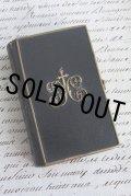 お買い得 1857年 フランス製 アンティーク聖書 ミサの聖典 皮表紙に真鍮飾り イエスキリストの挿絵 448ページ 11.0×7.1cm