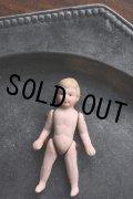 希少美品 1930年代 フランス製 アンティーク ミニョネット ビスクドール 可愛い男の子 欠けなしの完品 6.3cm