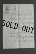 1846年 フランスの古文書 アンティーク・マニュスクリ 枯れたインク 美しい手書き文字 見開き1枚 2ページ