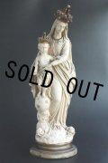 1900年代初期 フランス製 アンティーク とても優しいお顔の大きなマリア像 勝利の聖母 Notre Dame des Victoires 全高 49.5cm 3kg