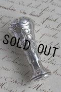 フランス アンティーク 純銀製 グリシン Glycine のカシェ 優美アール・ヌーヴォー象嵌 シーリングスタンプ 封蝋 純銀刻印有