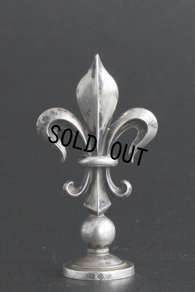 画像3: 希少 フランス製 アンティーク 純銀無垢 (900/1000)品質刻印有 ユリの紋章  シーリングスタンプ 王冠の印面