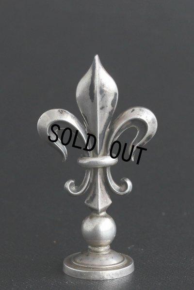 画像4: 希少 フランス製 アンティーク 純銀無垢 (900/1000)品質刻印有 ユリの紋章  シーリングスタンプ 王冠の印面