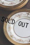 豪華 アンティーク ミントン & ティファニー 英国王室御用達 アイボリー 金彩盛装飾 ディナープレート 径26.2cm