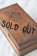 希少 アンティーク 大型モシュリンヌボックス 燕・蝶・ブーケ オリーブの木 27.0×14.5cm 1800年代後期