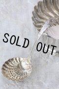 豪華美品 純銀製 シュガーシフタースプーン 透かし&金彩 飾り加工 アンティークシルバー 1904年 英国シェフィールド製